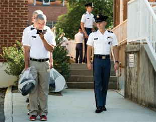Virginia Tech Corps of Cadets; photo by Logan Wallace